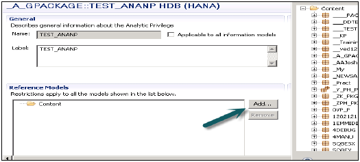 Adding Views to Analytic Privileges