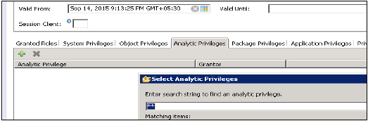 Analytic Privileges