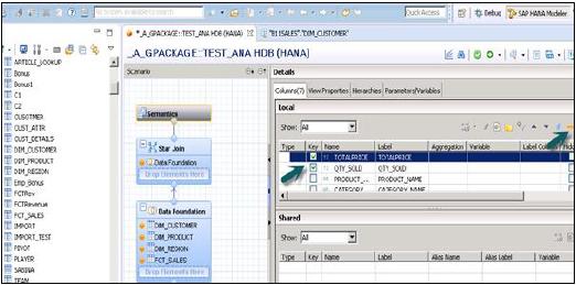 SAP HANA - Analytic View