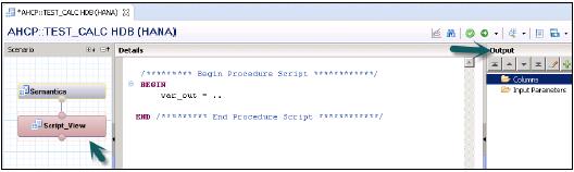 SAP HANA - SQL Script - Script N Dump