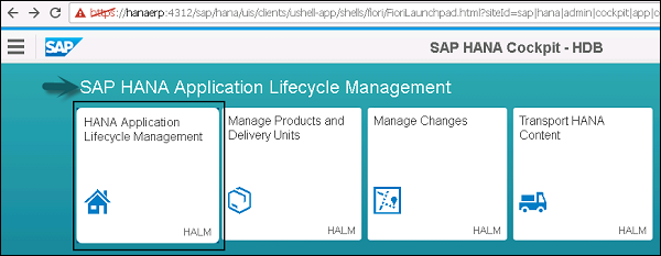 SAP HANA Administration - Quick Guide - Tutorialspoint