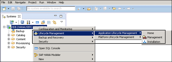 SAP HANA Admin - Lifecycle Management - Tutorialspoint