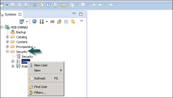 Create Users in HANA Studio