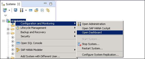 SAP HANA Administration - Quick Guide - Tutorialspoint