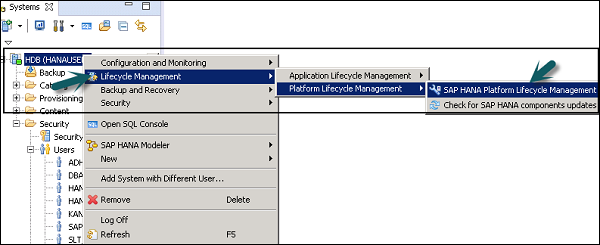 SAP HANA Administration - Quick Guide