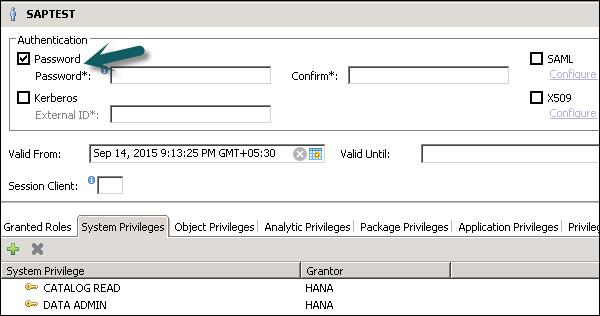SAP HANA Admin - Authentication Methods