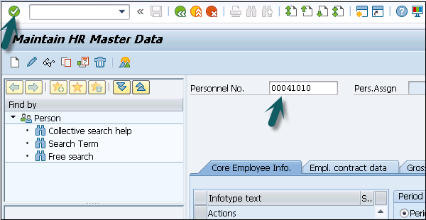 Maintain HR Master Data