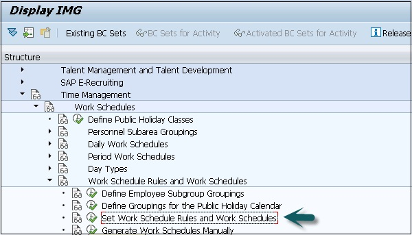 Sap Hr Work Schedules