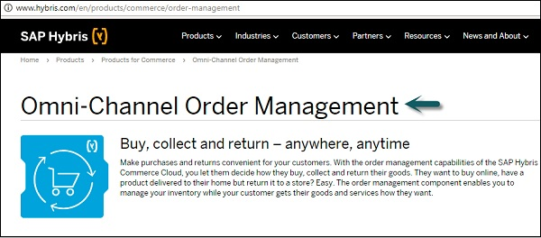 Sap hybris quick guide omni channel order management fandeluxe Image collections