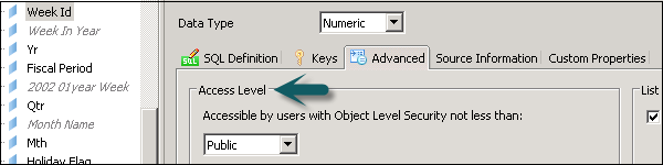 Change Access for Object