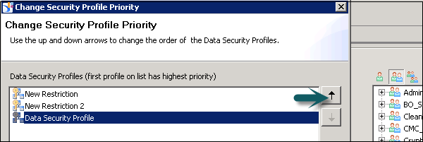 Change Security Profile Priority