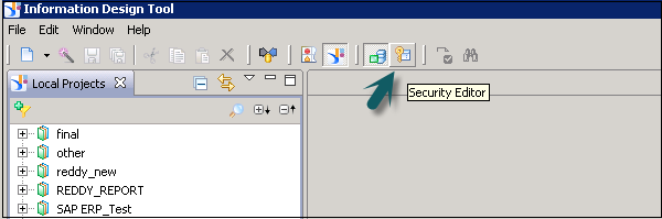 Open Security Editor