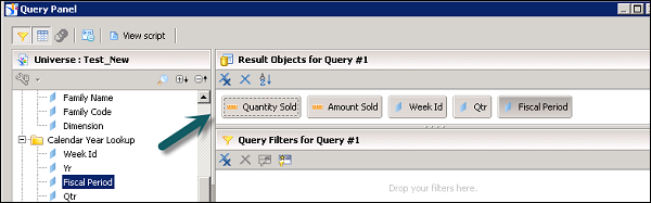 Query Panel