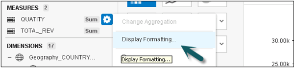 Display formatting