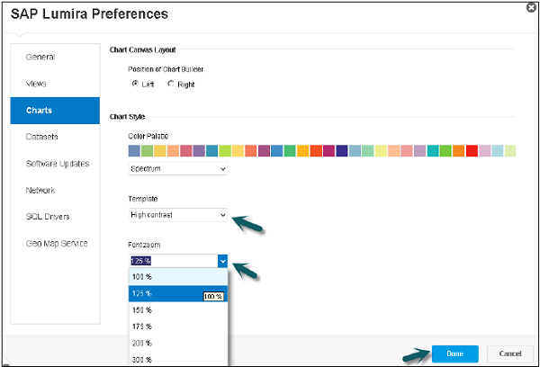 Lumira Preferences Step3