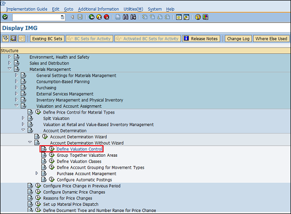 SAP Activate Grouping code