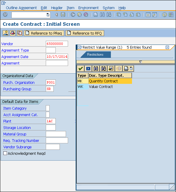 SAP MM - Outline Agreement - Tutorialspoint