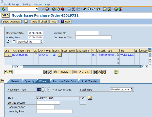 SAP MM - Inventory Management
