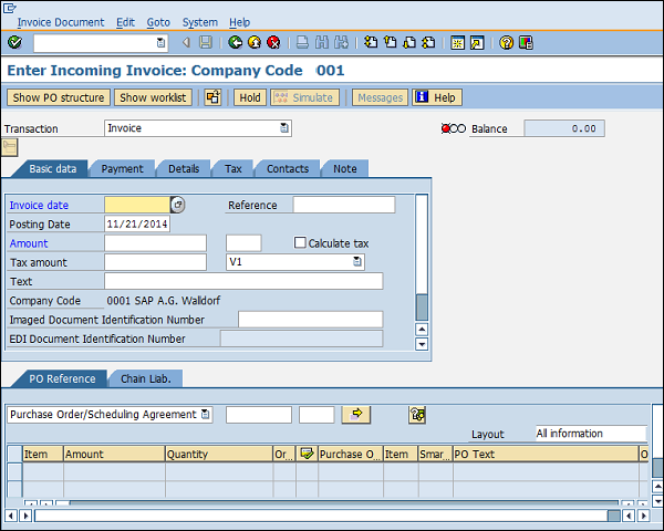 SAP MM - Invoice Verification