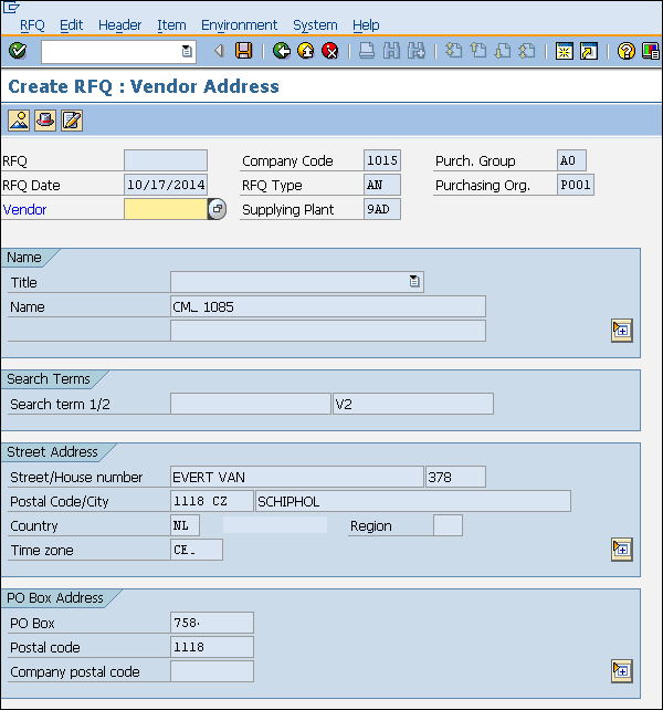 SAP MM - Request for Quotation - Tutorialspoint