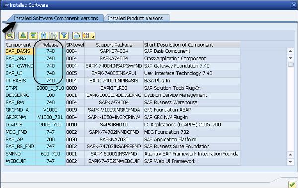 NW Version in ECC System - Tutorialspoint