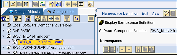 Display Namespace