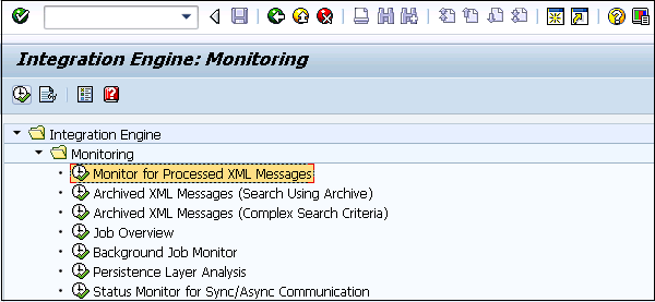 Monitor for Processed XML Messages