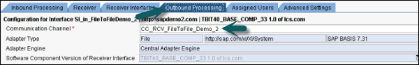 Outbound Processing Tab