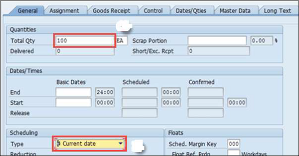 SAP PP - Production Orders - Tutorialspoint