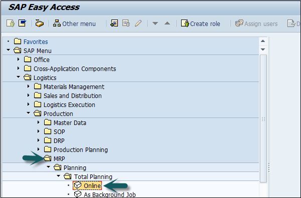 SAP PP - Material Requirement Planning