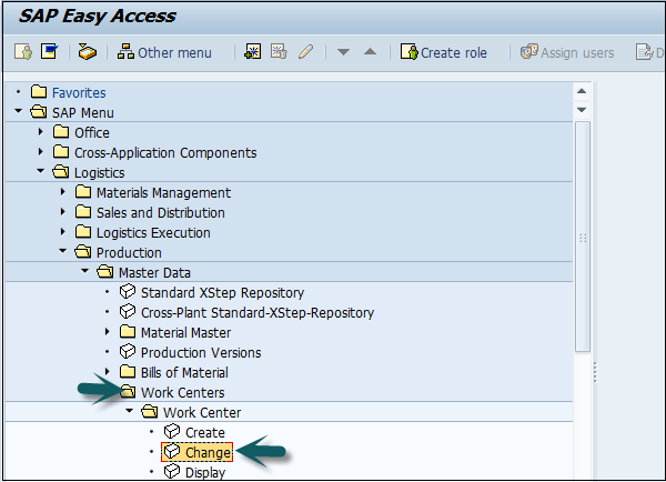SAP PP Access