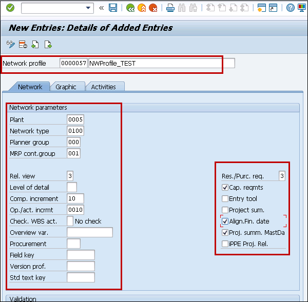 SAP PS - Network Profile - Tutorialspoint