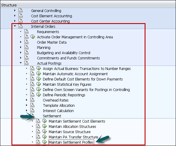 SAP PS - Settlement Profile - Tutorialspoint