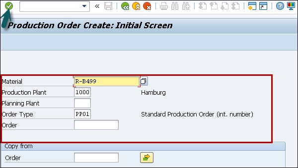 Production Order Type