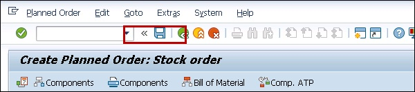 Create Planned Order Stock
