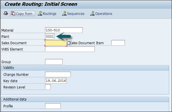 Creating Routing Initial Screen