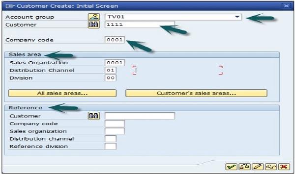 SAP SD - Customer & Material Master Data - Tutorialspoint