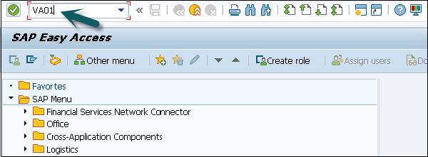 SAP SD - Creation of Sales Order - Tutorialspoint
