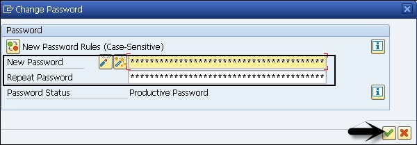 Change Password Window