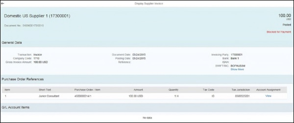SAP Simple Logistics - Invoice Management - Tutorialspoint
