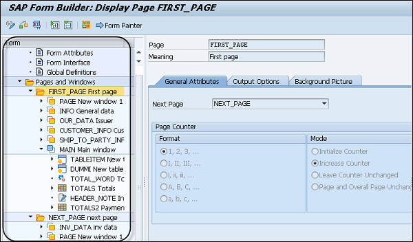 sap how to change report painter drilldown
