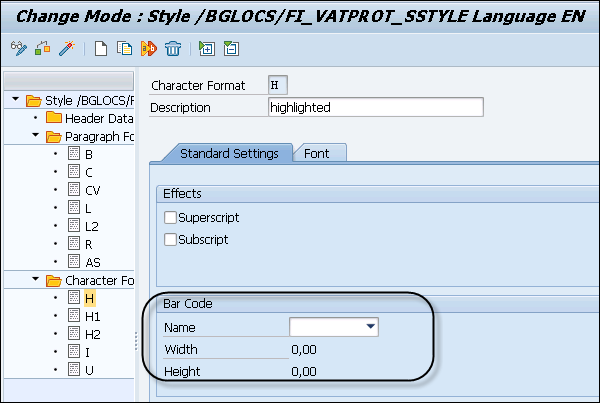 Smartforms new barcode printing in sap | barcode | tab (gui).