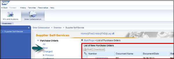 List Of New Purchase Orders