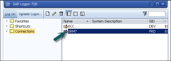 Login To SAP SRM System