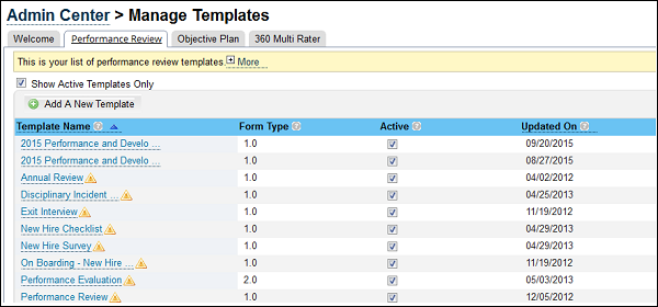 performance management forms templates