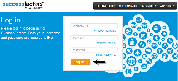 A: The SuccessFactors login page appears in one of two possible formats: one that asks for a Company ID and one that doesn't. If asked, you are required to supply a Company ID in order to access the system.