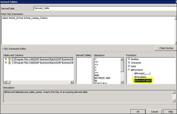 SAP Universe Designer - Quick Guide - Tutorialspoint
