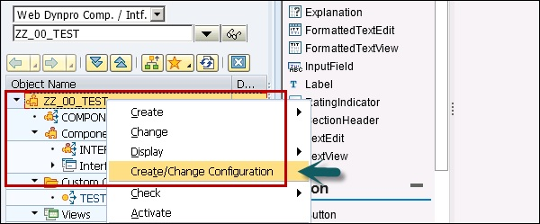 Create Change Configuration