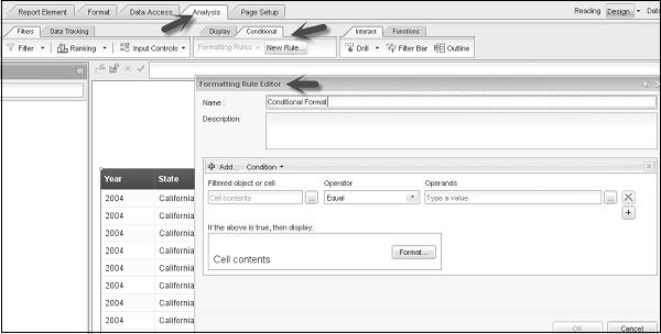 SAP Webi - Conditional Formatting - Tutorialspoint