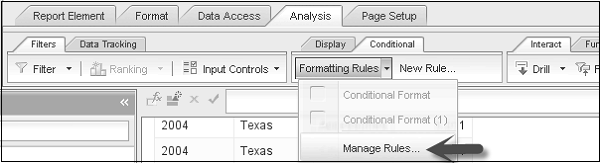 Manage Conditional Formatting Rules